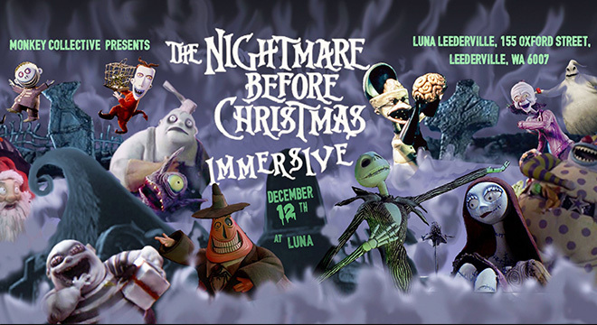 3380 THE NIGHTMARE BEFORE CHRISTMAS MONKEY COLLECTIVE IMMERSIVE